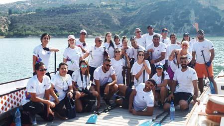 نادي دولفينز عكا يحصل على المرتبة الأولى ببطولة اوروبا في سباق 500 متر لقوارب الدراغون